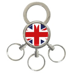 Uk Flag United Kingdom 3 Ring Key Chains by Nexatart
