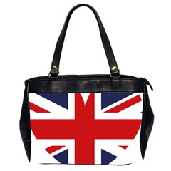 Uk Flag United Kingdom Office Handbags (2 Sides)  by Nexatart