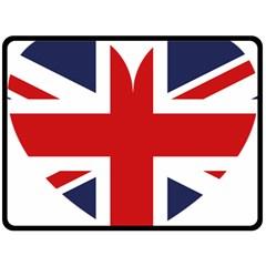 Uk Flag United Kingdom Double Sided Fleece Blanket (large)