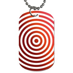 Concentric Red Rings Background Dog Tag (two Sides) by Nexatart