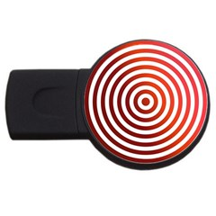 Concentric Red Rings Background Usb Flash Drive Round (2 Gb) by Nexatart