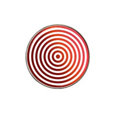 Concentric Red Rings Background Hat Clip Ball Marker (4 Pack)