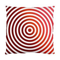 Concentric Red Rings Background Standard Cushion Case (two Sides) by Nexatart