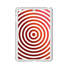 Concentric Red Rings Background Ipad Mini 2 Enamel Coated Cases by Nexatart