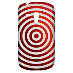 Concentric Red Rings Background Galaxy S3 Mini by Nexatart