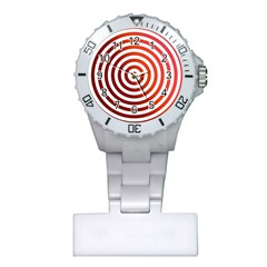 Concentric Red Rings Background Plastic Nurses Watch by Nexatart