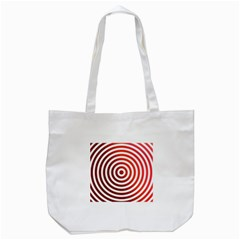 Concentric Red Rings Background Tote Bag (white) by Nexatart