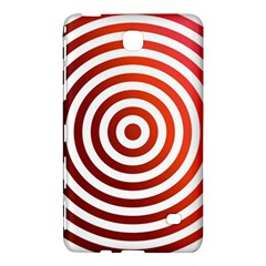 Concentric Red Rings Background Samsung Galaxy Tab 4 (7 ) Hardshell Case  by Nexatart