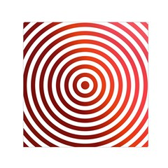 Concentric Red Rings Background Small Satin Scarf (square) by Nexatart