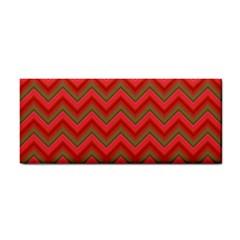 Background Retro Red Zigzag Cosmetic Storage Cases by Nexatart