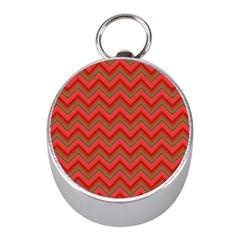Background Retro Red Zigzag Mini Silver Compasses by Nexatart