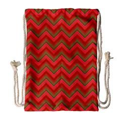 Background Retro Red Zigzag Drawstring Bag (large) by Nexatart