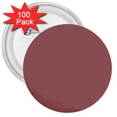 Blush Gold Coppery Pink Solid Color 3  Buttons (100 Pack)  by PodArtist
