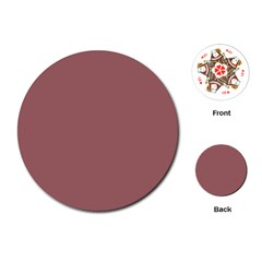 Blush Gold Coppery Pink Solid Color Playing Cards (round)  by PodArtist