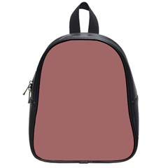 Blush Gold Coppery Pink Solid Color School Bag (small) by PodArtist
