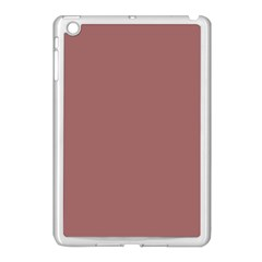 Blush Gold Coppery Pink Solid Color Apple Ipad Mini Case (white) by PodArtist