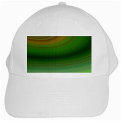Green Background Elliptical White Cap by Nexatart