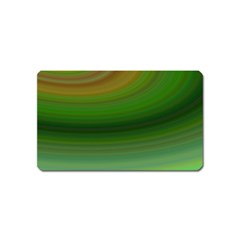 Green Background Elliptical Magnet (name Card) by Nexatart