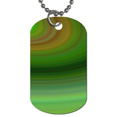 Green Background Elliptical Dog Tag (two Sides) by Nexatart