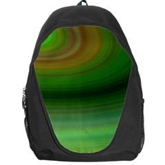 Green Background Elliptical Backpack Bag by Nexatart