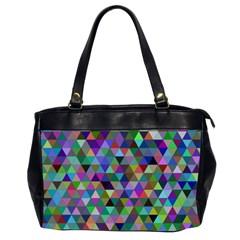 Triangle Tile Mosaic Pattern Office Handbags (2 Sides)  by Nexatart