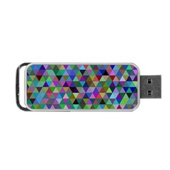 Triangle Tile Mosaic Pattern Portable Usb Flash (two Sides) by Nexatart