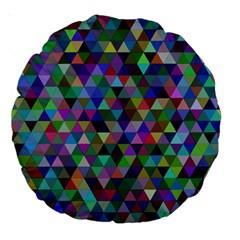 Triangle Tile Mosaic Pattern Large 18  Premium Round Cushions by Nexatart