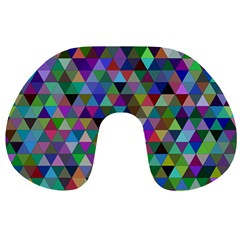 Triangle Tile Mosaic Pattern Travel Neck Pillows