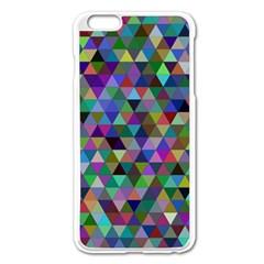 Triangle Tile Mosaic Pattern Apple Iphone 6 Plus/6s Plus Enamel White Case by Nexatart