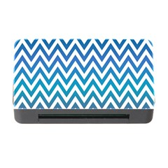 Blue Zig Zag Chevron Classic Pattern Memory Card Reader With Cf by Nexatart
