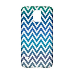 Blue Zig Zag Chevron Classic Pattern Samsung Galaxy S5 Hardshell Case  by Nexatart