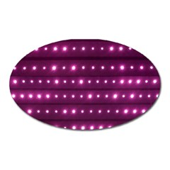 Galaxy Stripes Pattern Oval Magnet by dflcprints