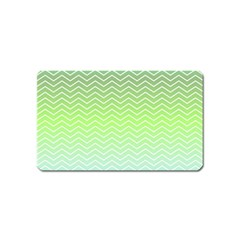Green Line Zigzag Pattern Chevron Magnet (name Card) by Nexatart