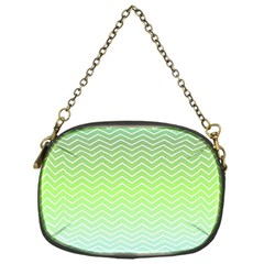 Green Line Zigzag Pattern Chevron Chain Purses (one Side)  by Nexatart