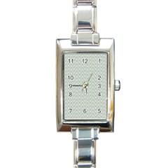 Vintage Pattern Chevron Rectangle Italian Charm Watch by Nexatart