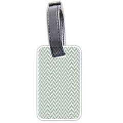 Vintage Pattern Chevron Luggage Tags (two Sides) by Nexatart