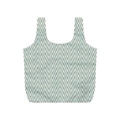 Vintage Pattern Chevron Full Print Recycle Bags (s)  by Nexatart