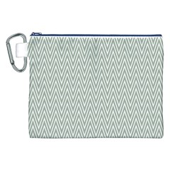Vintage Pattern Chevron Canvas Cosmetic Bag (xxl) by Nexatart