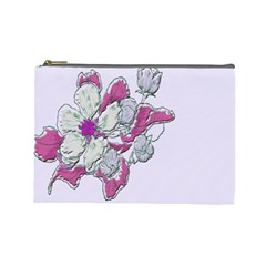 Bouquet Flowers Plant Purple Cosmetic Bag (large)  by Nexatart