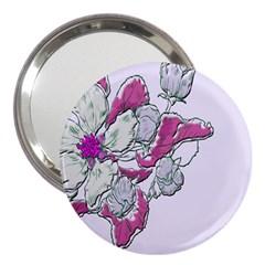 Bouquet Flowers Plant Purple 3  Handbag Mirrors by Nexatart