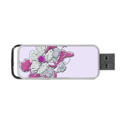 Bouquet Flowers Plant Purple Portable Usb Flash (two Sides) by Nexatart