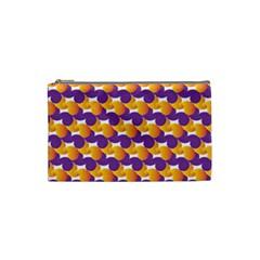 Pattern Background Purple Yellow Cosmetic Bag (small)  by Nexatart