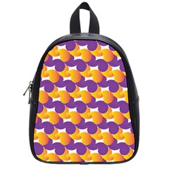Pattern Background Purple Yellow School Bag (small) by Nexatart