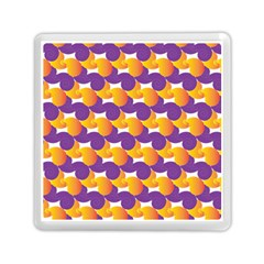 Pattern Background Purple Yellow Memory Card Reader (square)  by Nexatart