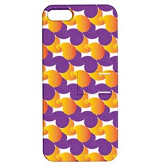 Pattern Background Purple Yellow Apple Iphone 5 Hardshell Case With Stand by Nexatart