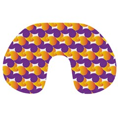 Pattern Background Purple Yellow Travel Neck Pillows by Nexatart