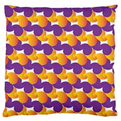 Pattern Background Purple Yellow Large Flano Cushion Case (two Sides) by Nexatart