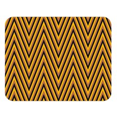 Chevron Brown Retro Vintage Double Sided Flano Blanket (large)  by Nexatart