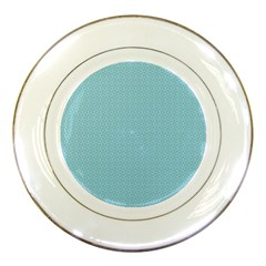 Blue Pattern Background Texture Porcelain Plates by Nexatart