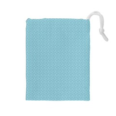Blue Pattern Background Texture Drawstring Pouches (large)  by Nexatart